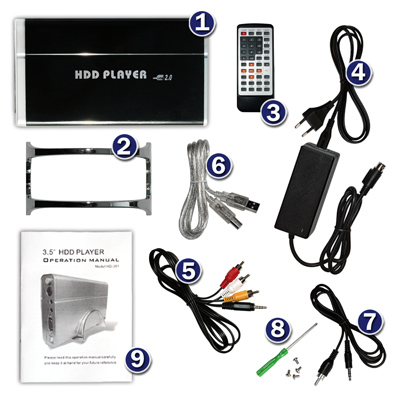 Hdmi multi function multimedia audio and video u disk mobile hard disk hd 1080p video player usb player